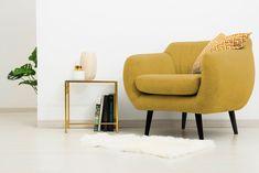O pata de culoare care va schimba aspectul livingului tau. #Livingroom #homedecor #chair Accent Chairs, Lemon, Spring, Inspiration, Furniture, Home Decor, Upholstered Chairs, Biblical Inspiration, Decoration Home