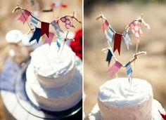 vintage americana wedding cake
