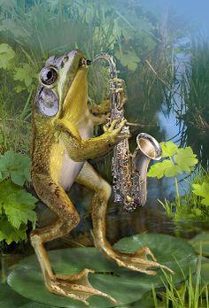 great frog art