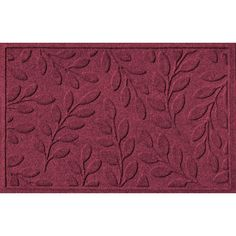 WaterGuard Brittany Leaf Indoor Outdoor Mat, Red