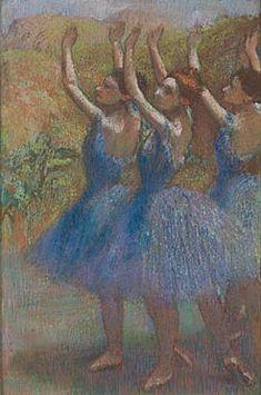 Hilaire-Germain-Edgar Degas | Three Dancers in Violet Tutus | L1067 | The National Gallery, London