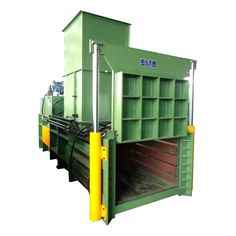 JPW60BL/JPW80BL * Horizontal semi-automatic baler machine type, with hydraulic up-down opening door design, can realize more robust compressing performance. * Well suit for solid waste line, such as hard plastic, thin film, beverage bottle, fiber etc. * You can choose conveyor or air-blower or manual power to feed material into machine chamber. * Lift door design, and can continuously eject bales, save space, more convenient and safer. * PLC control system, Can automatically inspect feeding…