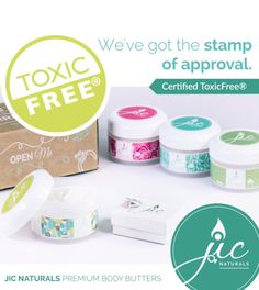 Welcome to the all-new luxuriously rich body butters from JIC Naturals. Made with Organic and Certified ToxicFree ingredients, this 24-hour moisturizer is packed with amino acids, minerals and peptides that support skin renewal. Available in three popular Jewelry In Candles fragrances and one unscented. Discover your choice of jewelry with every JIC Naturals body butter.