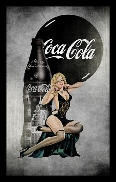 Coca Cola pin up girls. Vintage Coca Cola, Coca Cola Poster, Coca Cola Ad, Coca Cola Bottles, Vintage Advertisements, Vintage Ads, Advertising Ideas, Etiquette Vintage, Pin Up Posters