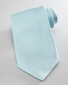 Textured Silk Tie, Mint by Brioni at Neiman Marcus.