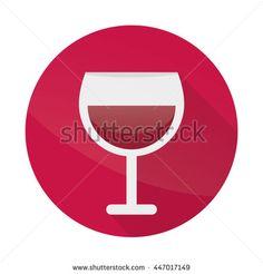 Glass Of Wine Flat Design