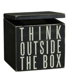 Take a look at this 'Think' Mug Box by Primitives by Kathy on #zulily today! $10 !!