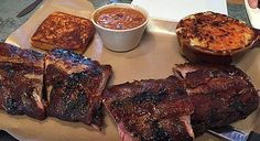Full rack of Baby Back ribs with two sides and Texas toast.