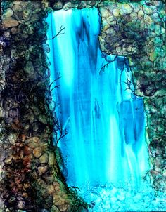 Alcohol Ink Painting on Yupo Paper