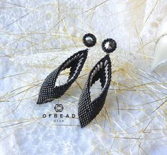 A personal favourite from my Etsy shop https://www.etsy.com/listing/571769205/beaded-earrings-tutorial-ravendo-black