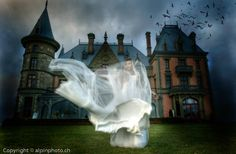 Beautiful bride - gothic castle location  #steampunk wedding #wedding photography coolest fotos