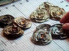 lollipop method to create these. - heat gun method - Used polyester designer fabric, 7 Gypsies Leaves (not flowers), Sequin trim, Gold bead trim, Feathers, Rhinestones, metal flowers.