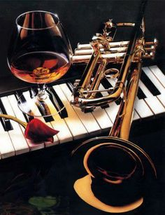 Piano, trumpet and wine. Nice!
