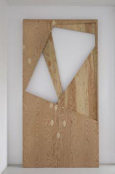 Gedi Sibony   Ösbasak Seker, 2008    Plywood, 244 × 122 × 6 cm