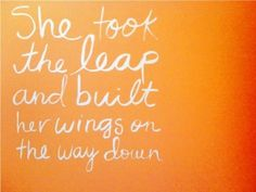 feels like the perfect saying for my 2011... hoping to get some wings in 2012, haha.