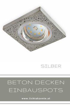 Modern ceiling recessed spotlight angular Swiveling ceiling spotlight with recessed illuminant Recessed Spotlights, Recessed Ceiling Lights, Concrete Ceiling, Beton Design, Decorating Blogs, Silver, Diy, Crafts, Home Decor