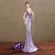 Purple Lady Figurines | ... view now lady veronica figurine view now femme a la mode figurine