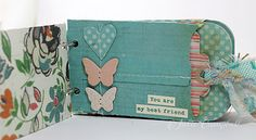 Adorable mini album made with one of the great envelope shapes!