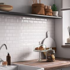 This is the content for a sample page. Metro Tiles Kitchen, Kitchen Backsplash, Diy Kitchen, Kitchen Decor, Kitchen Design, Kitchen Cleaning, Metro White, Student Home, Kitchen Styling