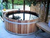 Cedar Wood Hot Tub -Propane or Natural Gas – seats 8