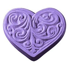 Victorian Heart Mold, 1 sheet 3 cavities $6.50