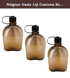 Nalgene Oasis 1qt Canteen Bottle - 3 Pack (Coyote). Nalgene Oasis 1qt Canteen Bottle - 3 Pack (Coyote Color).