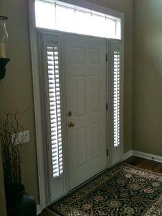 Perfect Side Light Window Shutters For Front Door
