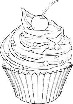 Spectacular Cute drawings: Cupcakes, ice cream and truffles (Cupcakes, ice cream . - Spectacular Cute drawings: Cupcakes, ice cream and truffles (Cupcakes, ice cream … - Food Coloring Pages, Adult Coloring Pages, Coloring Pages For Kids, Coloring Sheets, Printable Coloring Pages, Coloring Books, Cupcake Coloring Pages, Kids Coloring, Cupcake Drawing