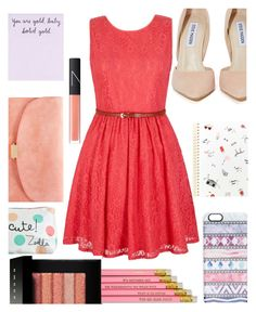 """pink summer outfit"" by nicholas-the-third ❤ liked on Polyvore featuring Steve Madden, Yumi, Bobbi Brown Cosmetics, NARS Cosmetics, Casetify, Mansur Gavriel, Summer, Pink, summerstyle and NARS"