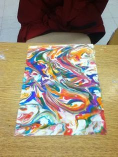 Ms. Malone's Art Room: shaving cream
