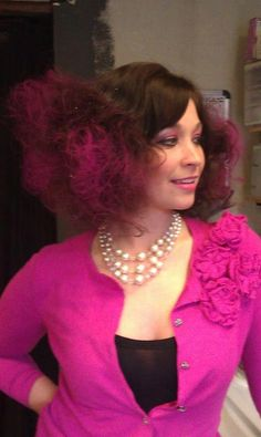 Hair for a cotton candy First Friday's by Beckie