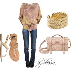 muted pink, created by shauna-rogers on Polyvore