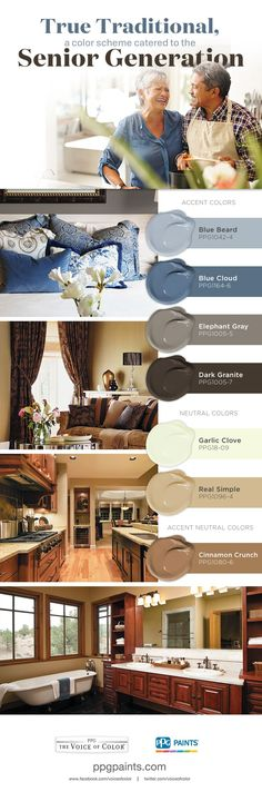 True Traditional, a Color Scheme Catered to the Senior Generation | The True Traditional color palette includes nostalgic colors, designed to reflect Seniors' sense of style.