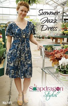 PDF Summer Jazz Dress Pattern Snapdragon by ohsnapdragonstudios