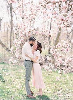 Michigan Film Photography, magnolia tree, spring engagement session, emily jane engagements, emily jane photography,…