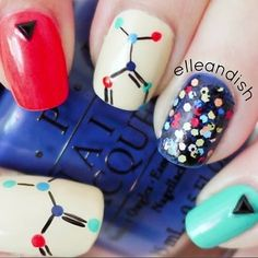 Chemistry nerds, represent: | 25 Gloriously Geeky Nail Art Tutorials