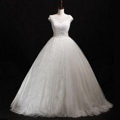 2016 Fashion Wedding Dress A-line decal dress to