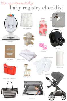 everything you need to know about researching and organizing for your baby registry // perfect for other first time moms!