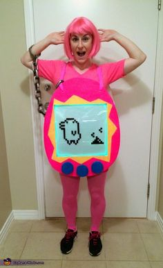 Tamagotchi - DIY Halloween Costume  Wtf where was this for the 90s party?!