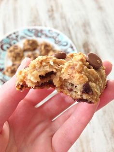Peanut Butter Oatmeal Cookies — No oil no flour no eggs and no added sugar. So healthy you can eat them for breakfast!.