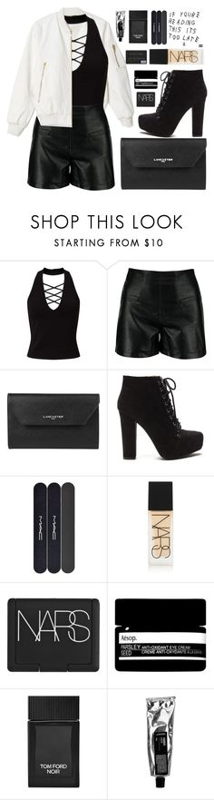 """drake 60 second style"" by charli-oakeby ❤ liked on Polyvore featuring Miss Selfridge, Lancaster, MAC Cosmetics, NARS Cosmetics, Aesop and Tom Ford"