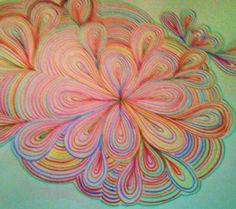 Disegno astratto fatto da Angela Martini