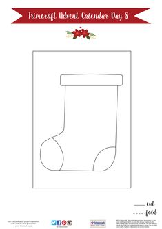Trimcraft Advent Calendar Day 8- Free Printable Washi Tape Stocking Card Template