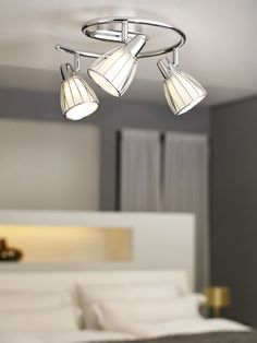 The new Eurolux Collection of trendy and energy efficient spotlights, from EGLO Leuchten of Austria, is bound to impress. Led Lamp, Track Lighting, Ceiling Lights, Room, Furniture, Design, Home Decor, Light Fixture, Light Fixtures