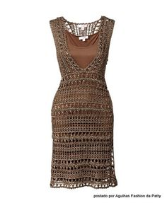 crochet dress - love it, but not in this color (at least for me :) )