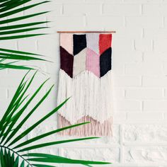 Woven Wall Hanging / Handwoven Tapestry / Weaving Fiber Art / Navajo Triangles by Wabi Sabi Textile Company