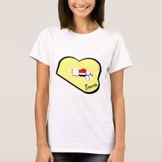 Sharnia's Lips Yemen T-Shirt (Yellow Lips). Available in different styles & colours!