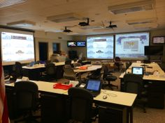 Preparing the EOC for a drill.