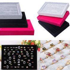 Hot Round Beads Display Box Case Storage Container 8 Compartments