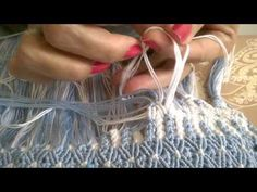 YouTube Macrame Bag, Macrame Knots, Summer Crafts, Diy And Crafts, Knot Braid, Passementerie, Macrame Projects, Macrame Tutorial, Paracord